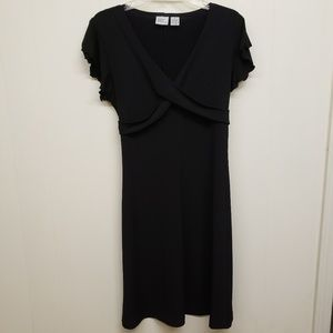Like New! Black Dress w/ Ruffle Sleeves